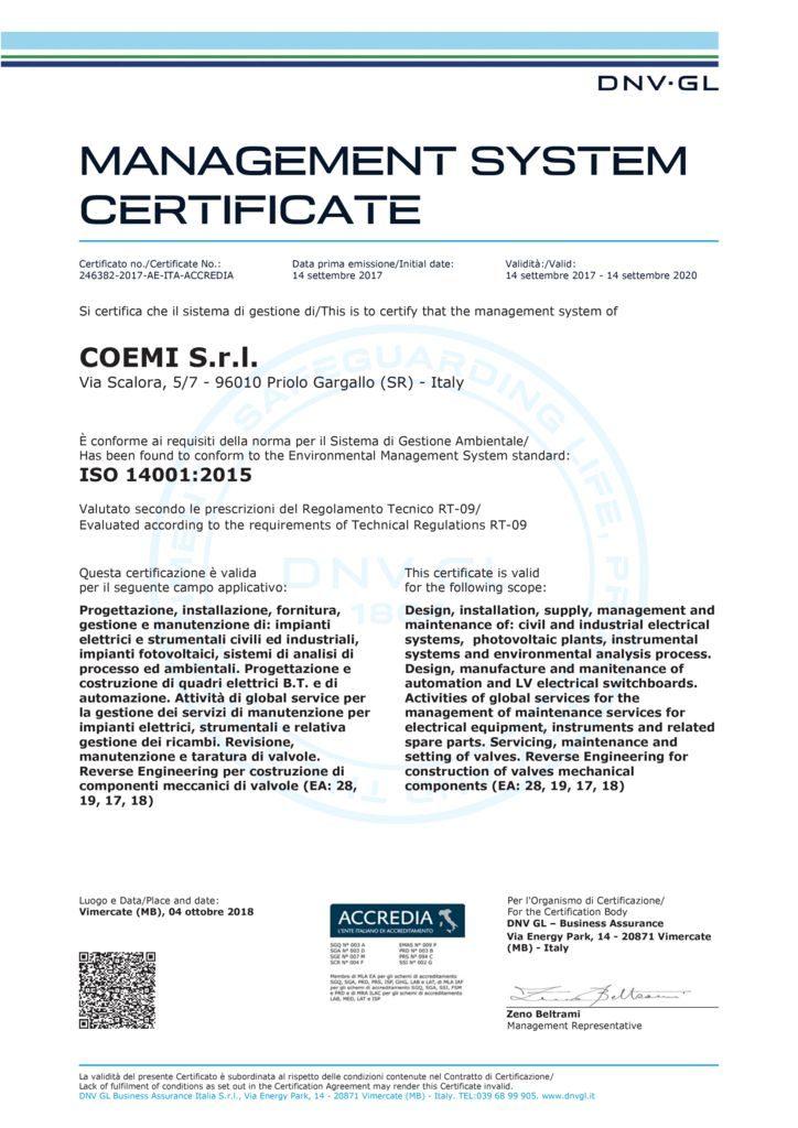 thumbnail of Cert_ISO 14001 Coemi Srl